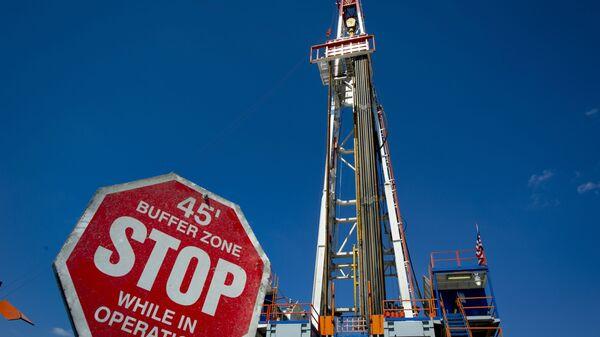 Буровая установка в месторождении сланцевого газа в штате Пенсильвания - Sputnik Ўзбекистон