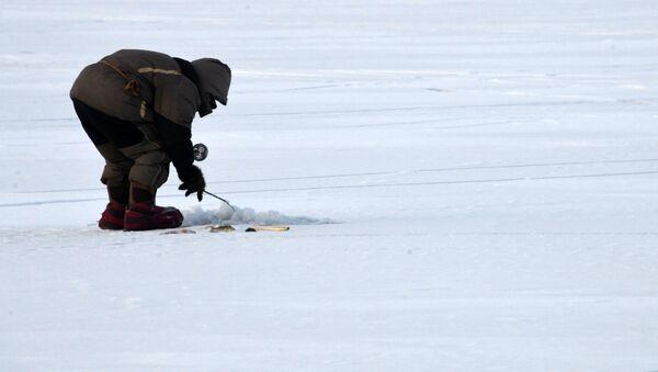 Зимняя подледная рыбалка на Иван-Озере - Sputnik Узбекистан