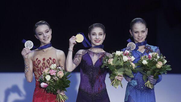 Фигурное катание. Чемпионат Европы. Женщины. Церемония награждения - Sputnik Узбекистан