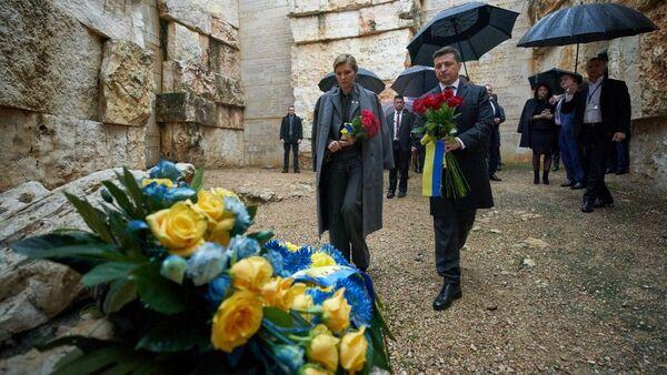 Президент Украины Владимир Зеленский во время рабочей поездки в Израиль - Sputnik Ўзбекистон