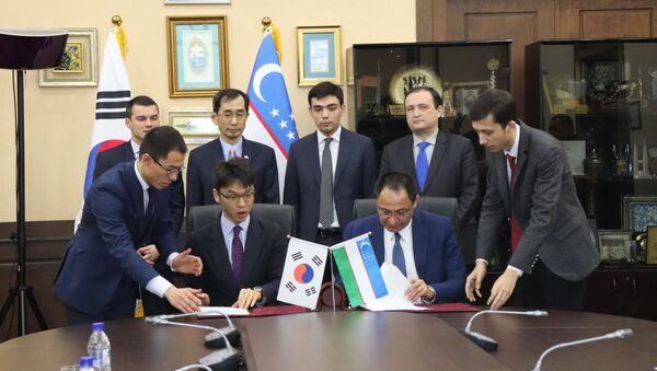 Подписание соглашения - Sputnik Узбекистан