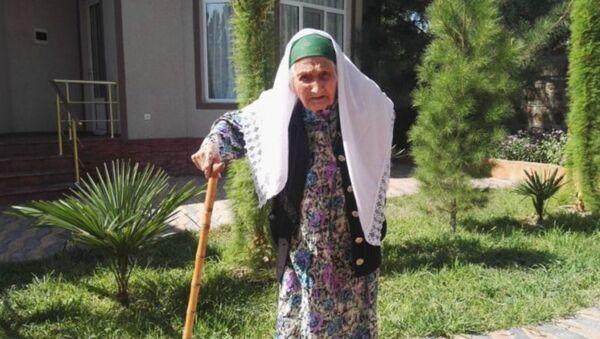 Самая старая женщина Таджикистана Фатима Мирзакулова - Sputnik Узбекистан