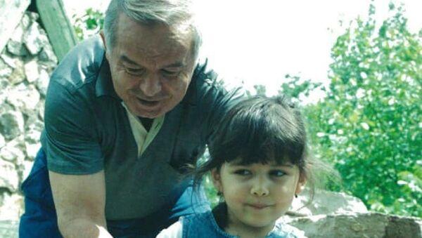 Лола Каримова-Тилляева со своим отцом Исламом Каримовым - Sputnik Узбекистан