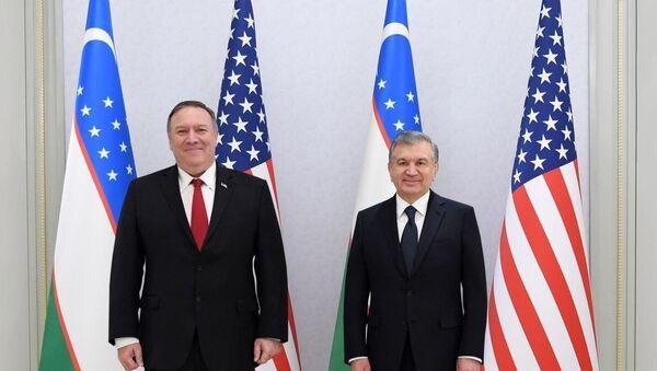Президент Шавкат Мирзиёев принял государственного секретаря США Майкла Помпео. - Sputnik Ўзбекистон