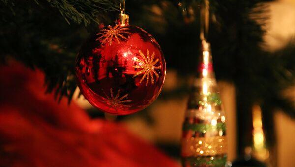Шар на новогодней елке - Sputnik Ўзбекистон