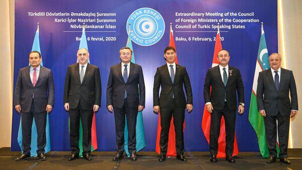 Внеочередное заседание Совета министров иностранных дел Совета сотрудничества тюркоязычных государств (Тюркского совета) в Баку, 6 февраля 2020 года - Sputnik Ўзбекистон