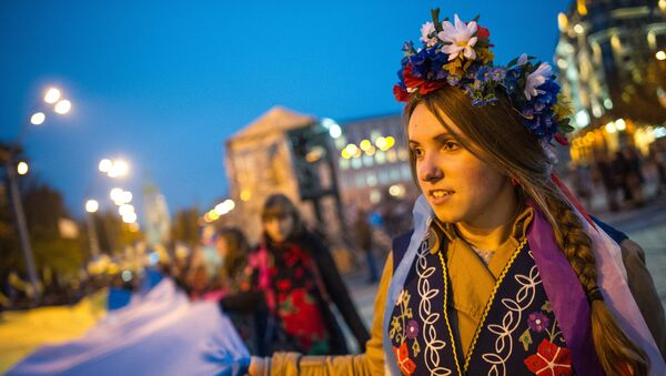 Marsh v chest dnya obrazovaniya Ukrainskoy Povstancheskoy armii proshel v Kiyeve - Sputnik Oʻzbekiston