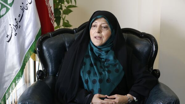 Вице-президент Ирана по делам женщин и семьи Масуме Эбтекар - Sputnik Ўзбекистон