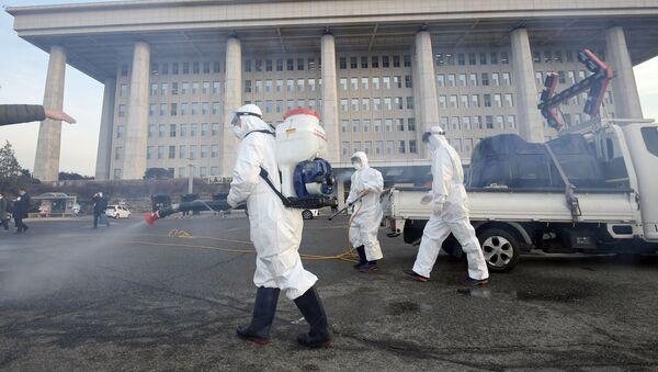 Профилактические меры против распространения коронавируса в Сеуле - Sputnik Ўзбекистон