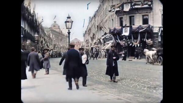 [60 fps] Moscow, Tverskaya Street in 1896 / Moskva, Tverskaya ulitsa, 1896 god - Sputnik Oʻzbekiston