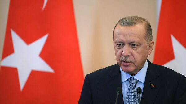 Президент РФ В. Путин встретился с президентом Турции Р. Т. Эрдоганом - Sputnik Ўзбекистон