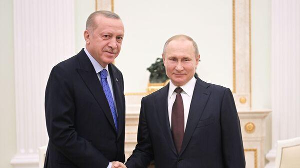 Президент РФ В. Путин встретился с президентом Турции Р. Эрдоганом - Sputnik Ўзбекистон