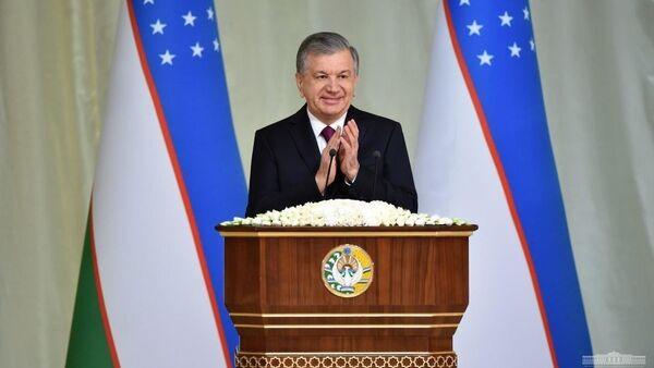 Prezident Shavkat Mirziyoyev vыstupil na torjestvax s pozdravitelnoy rechyu. - Sputnik Oʻzbekiston