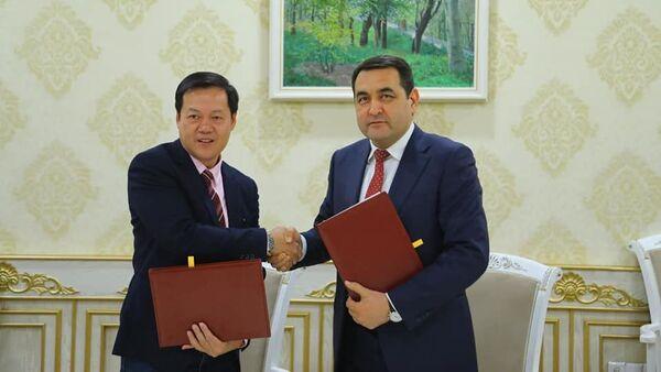 Подписание соглашения между Синграпуром и Наманганом - Sputnik Узбекистан