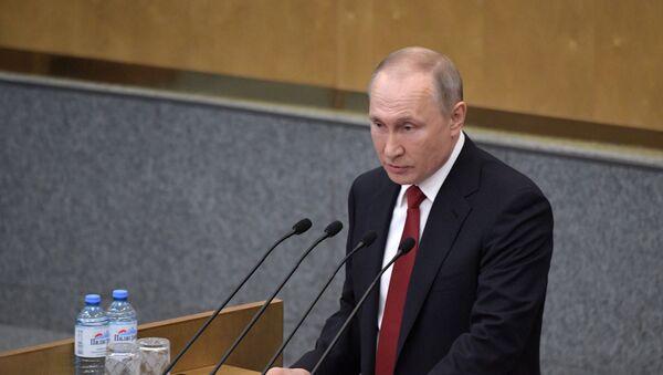 Президент РФ В. Путин принял участие в пленарном заседании Госдумы РФ - Sputnik Ўзбекистон