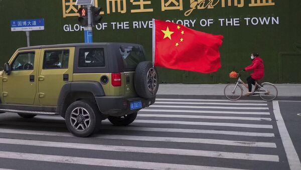 Улица города Ухань в китайской провинции Хубэй - Sputnik Ўзбекистон