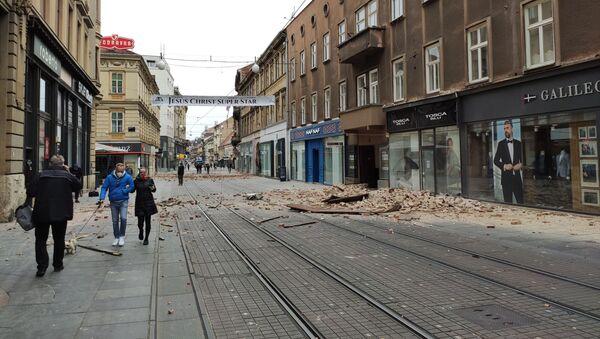Последствия землетрясения в Загребе - Sputnik Узбекистан