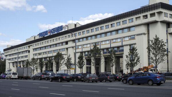 Здание МИА Россия сегодня на Зубовском бульваре в Москве. - Sputnik Ўзбекистон