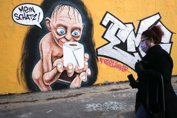 Германия, Берлин граффити тасвири, 21.03.20 - Sputnik Ўзбекистон