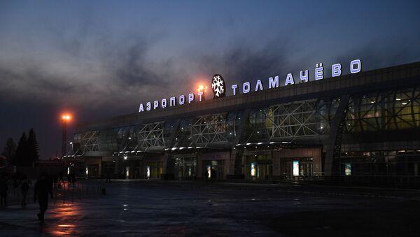 Таможенный досмотр пассажиров в Толмачево - Sputnik Узбекистан