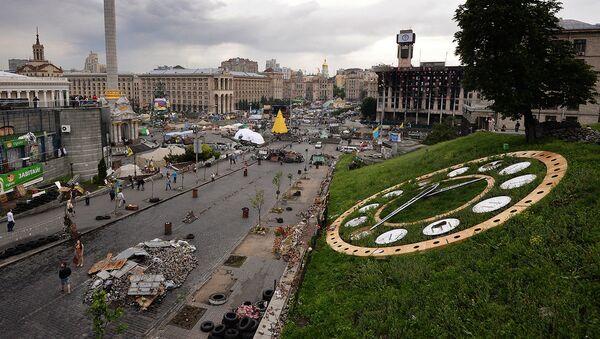 Вид на площадь Независимости в Киеве - Sputnik Ўзбекистон