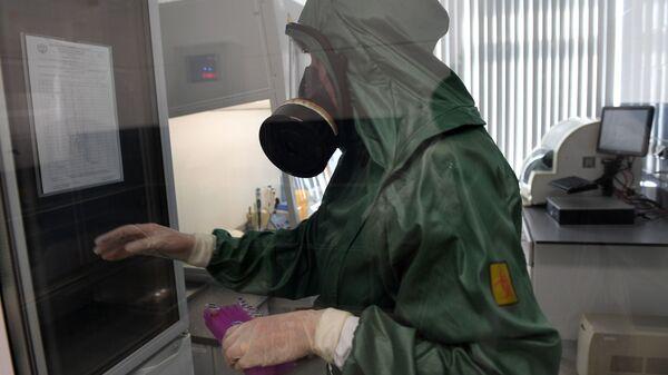 Rabota virusologicheskoy laboratorii - Sputnik Oʻzbekiston