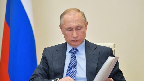Президент РФ В. Путин принял участие во встрече глав ЕАЭС в формате видеоконференции - Sputnik Ўзбекистон