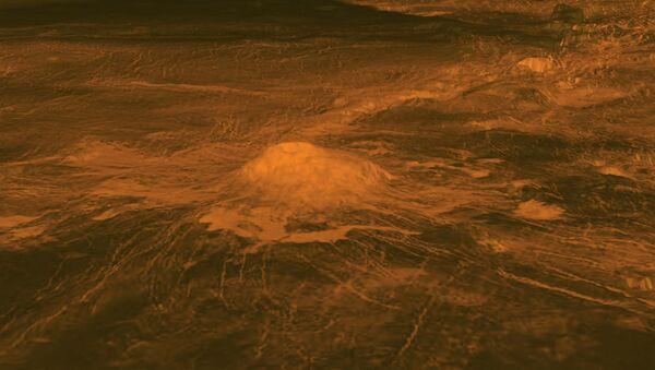 Вулкан на поверхности Венеры - Sputnik Ўзбекистон
