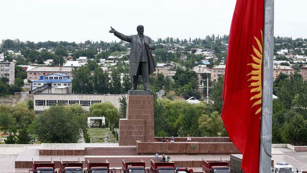 Pamyatnik Leninu na ploщadi goroda Osh v Kirgizii - Sputnik Oʻzbekiston