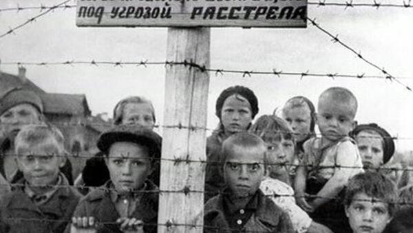 Дети в финском концлагере в Петрозаводске - Sputnik Ўзбекистон