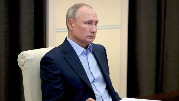 Президент РФ В. Путин провел онлайн-встречу с участниками всероссийской акции МыВместе - Sputnik Узбекистан