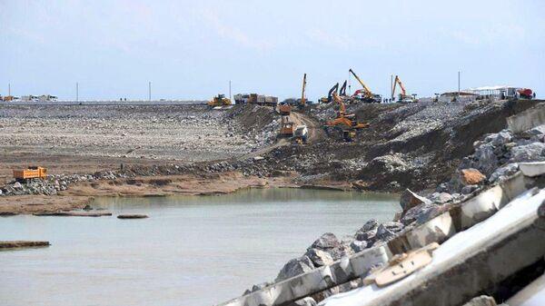 Ситуация в Сырдарьинской области, где произошел прорыв дамбы на Сардобском водохранилище - Sputnik Ўзбекистон
