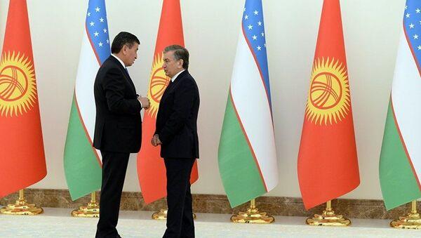 Президент Кыргызстана Сооронбай Жээнбеков и президент Узбекистана Шавкат Мирзиёев - Sputnik Ўзбекистон