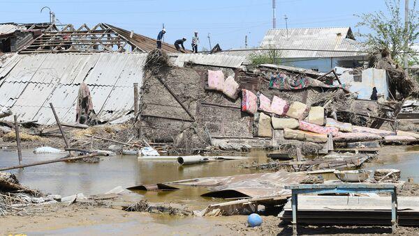 Последствия наводнения в Сырдарьинской области - Sputnik Узбекистан