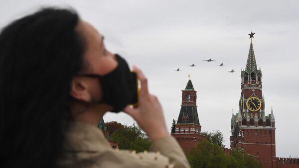 Vozdushnыy parad Pobedы v Moskve - Sputnik Oʻzbekiston