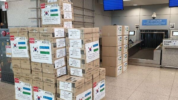 В Узбекистан отправлен гуманитарный груз из Республики Корея - Sputnik Ўзбекистон