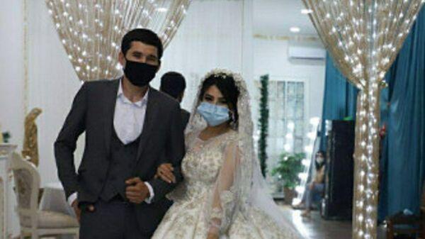 В Алмалыке прошла первая свадьба во время карантина - фото - Sputnik Узбекистан
