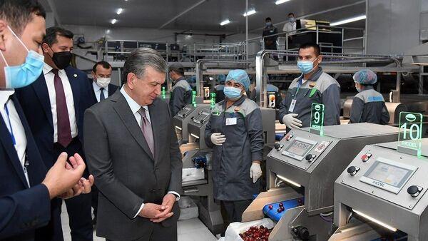 Шавкат Мирзиёев ознакомился с деятельностью совместного предприятия Уз-Сеганг - Sputnik Узбекистан