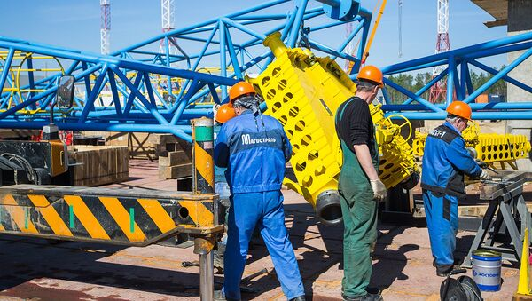 Монтаж оборудования на космодроме Восточный в Амурской области - Sputnik Узбекистан