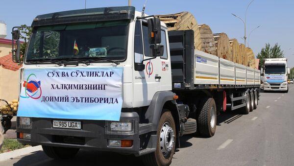Gumanitarnыy karavan Suxskomu rayonu - Sputnik Oʻzbekiston