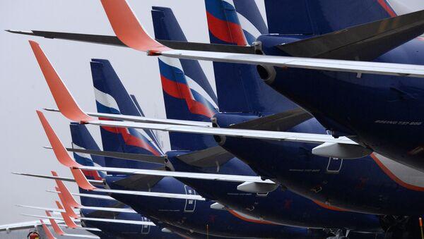 Пассажирские самолеты Boeing 737-800 авиакомпании Аэрофлот - Sputnik Узбекистан