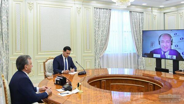 Shavkat Mirziyoyev provel onlayn peregovorы s glavoy YETTB - Sputnik Oʻzbekiston