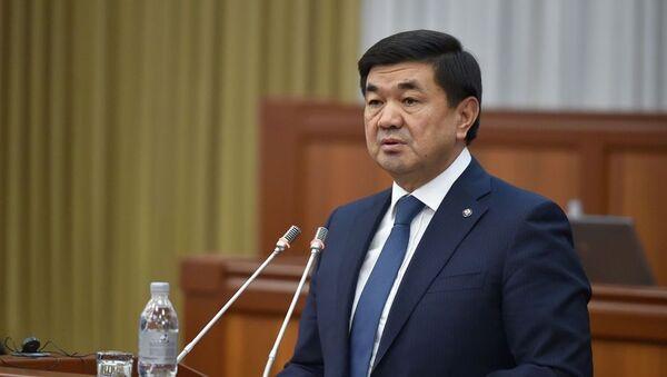 Премьер-министр Кыргызской Республики Мухаммедкалый Абылгазиев   - Sputnik Ўзбекистон