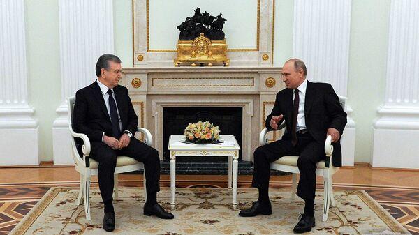 Шавкат Мирзиёев и Владимир Путин провели переговоры - Sputnik Узбекистан