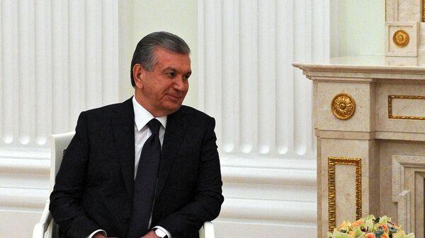 Президент РФ В. Путин встретился с президентом Узбекистана Ш. Мирзиеевым - Sputnik Узбекистан