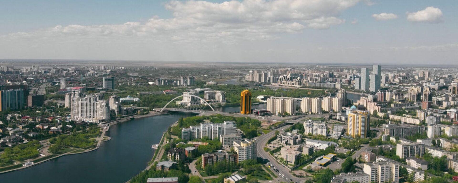 Виды города Нур-Султан. С высоты хорошо видны правый и левый берег столицы. - Sputnik Узбекистан, 1920, 21.08.2021