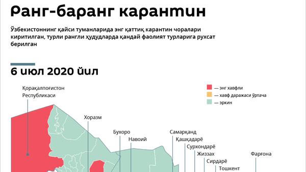 Karantin ranglari - Sputnik Oʻzbekiston