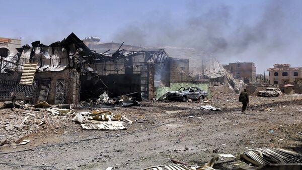 Последствия авиаударов ВВС коалиции по Йемену - Sputnik Ўзбекистон