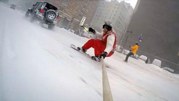 Ню Йоркда сноуборд учиш - Sputnik Ўзбекистон