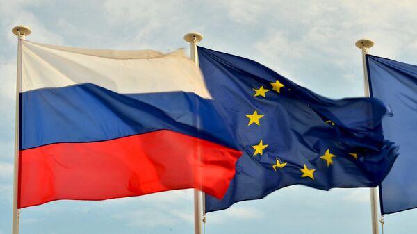 Россия ва Европа Иттифоқи байроқлари - Sputnik Ўзбекистон